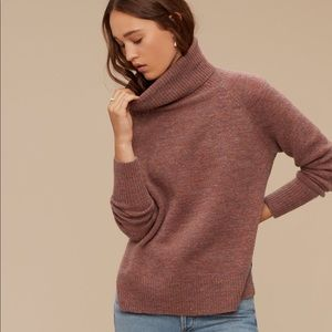 BNWOT Wilfred cowl neck alpaca sweater